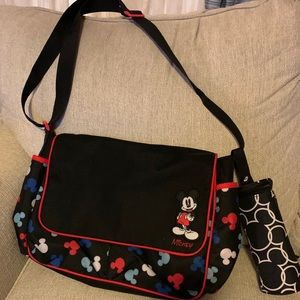 Mickey Mouse diaper bag with bottle Koozie
